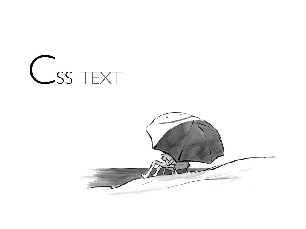 CSS TEXT
