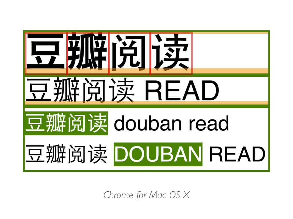 Chrome for Mac OS X