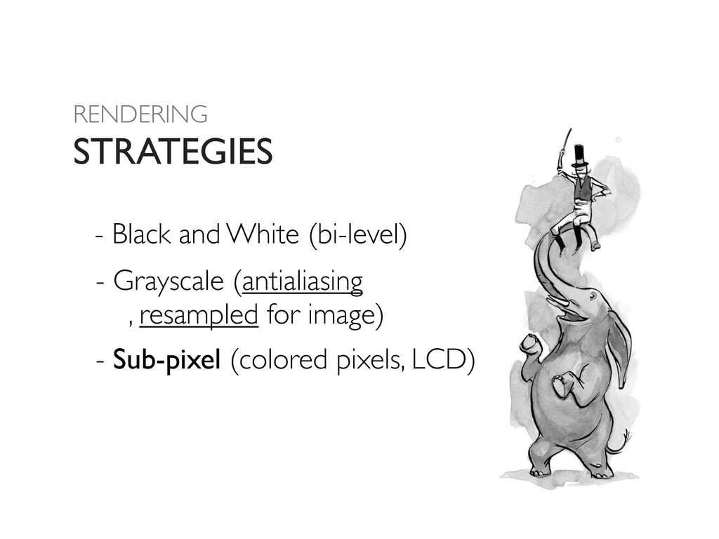 RENDERING STRATEGIES - Black and White (bi-leve...