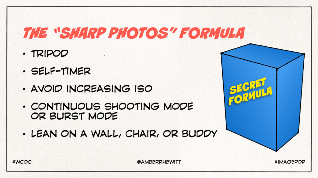 "THE ""SHARP PHOTOS"" FORMULA • TRIPOD • SELF-TIME..."