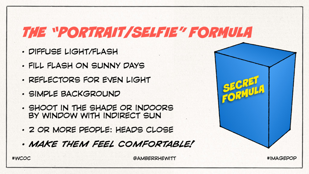 "THE ""PORTRAIT/SELFIE"" FORMULA • DIFFUSE LIGHT/F..."