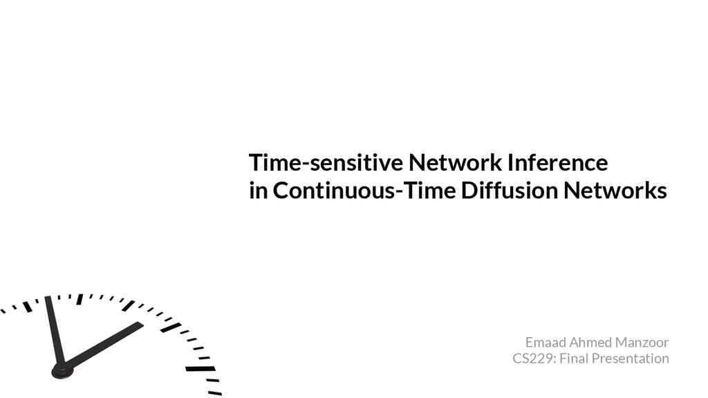 Time-sensitive Network Inference in Continuous-...