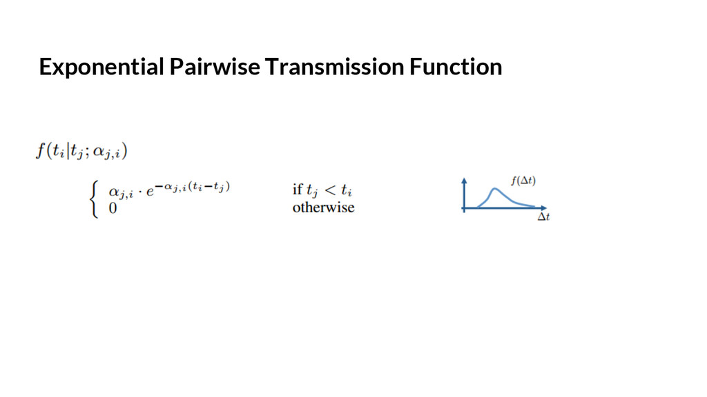 Exponential Pairwise Transmission Function