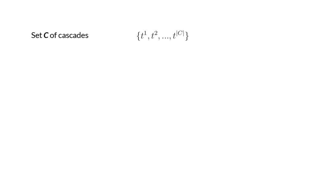 Set C of cascades