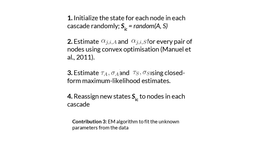 Contribution 3: EM algorithm to fit the unknown...