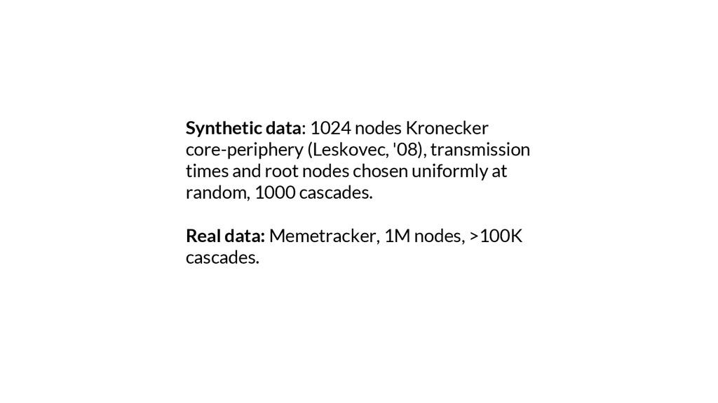 Synthetic data: 1024 nodes Kronecker core-perip...