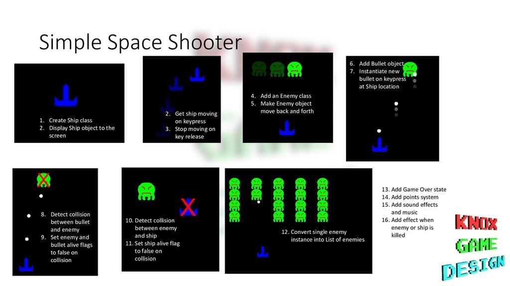 Simple Space Shooter 1. Create Ship class 2. Di...