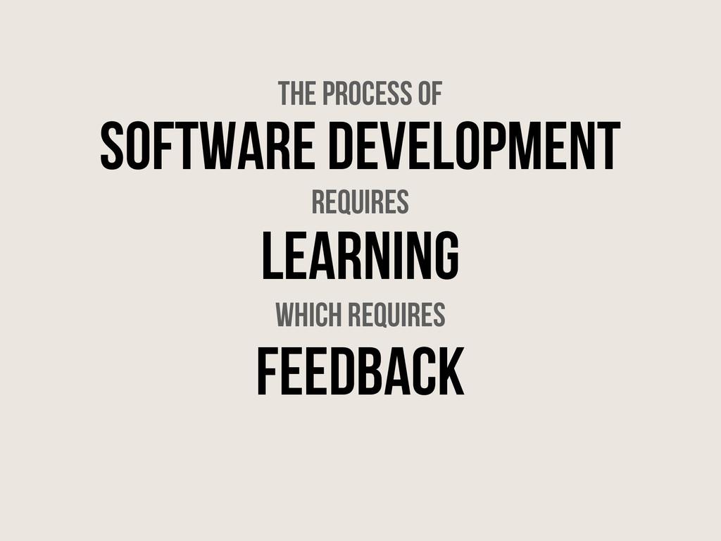 Software Development Learning Feedback the proc...
