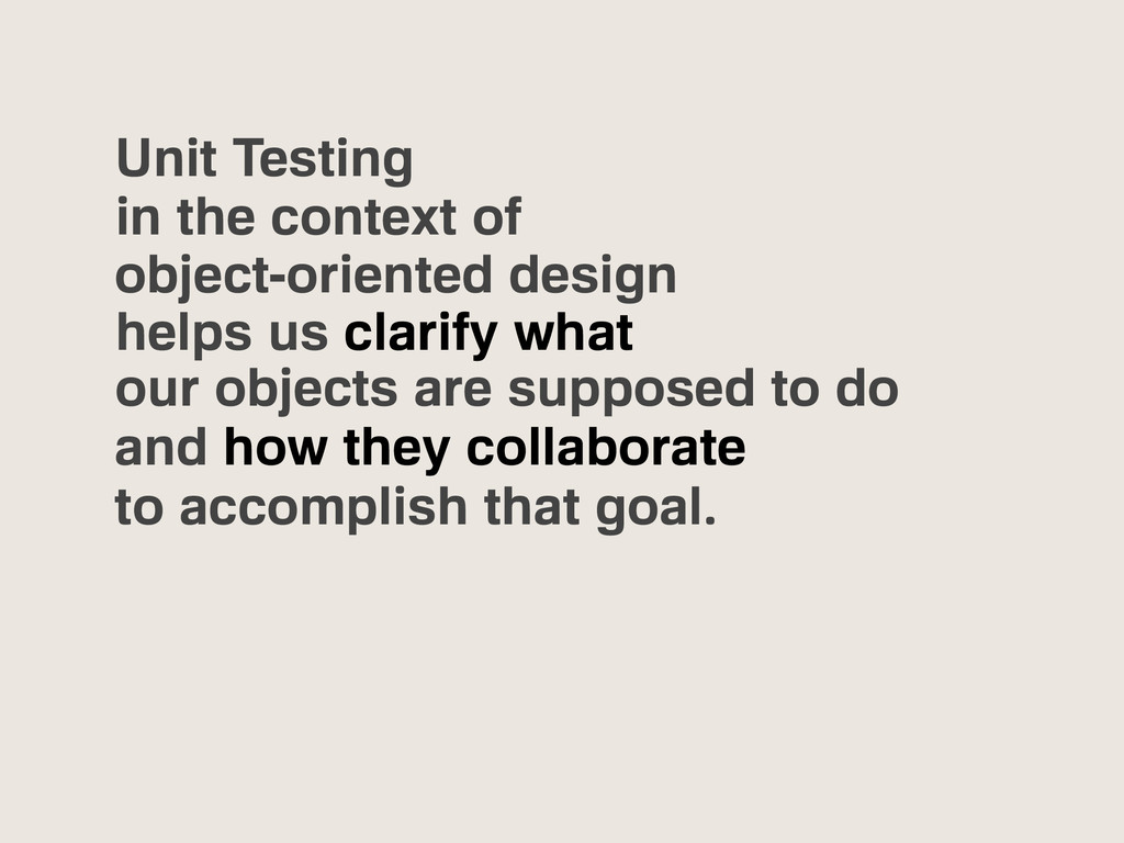 Unit Testing in the context of object-oriented ...