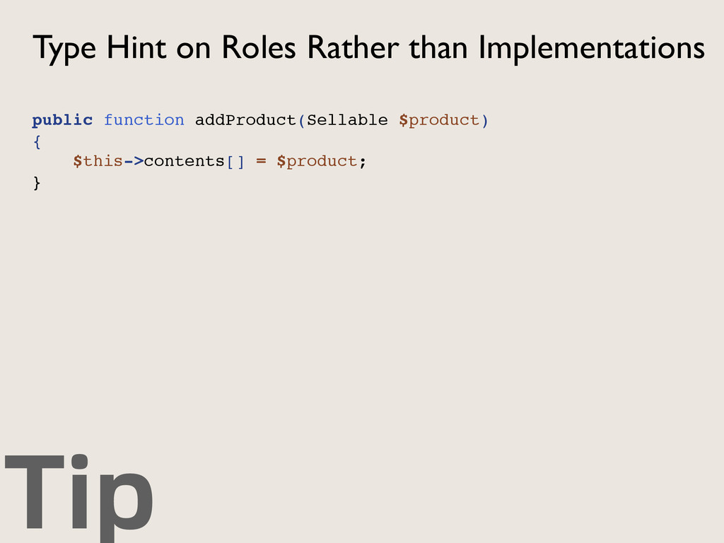 Tip Type Hint on Roles Rather than Implementati...