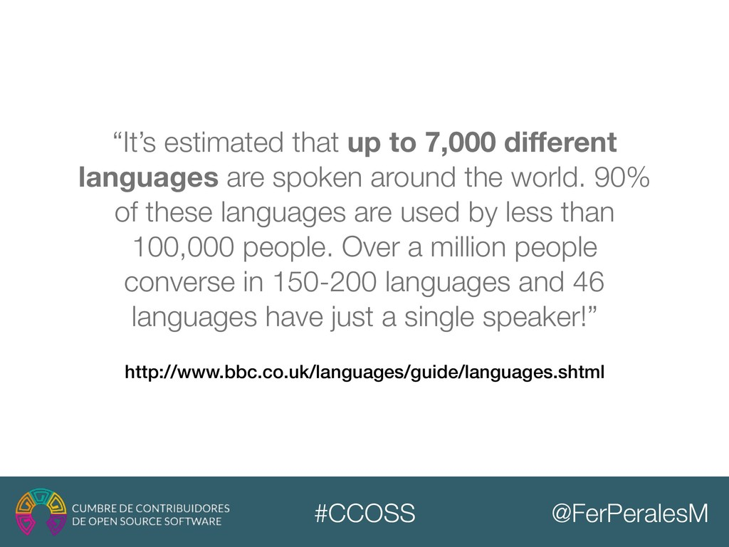 @FerPeralesM #CCOSS http://www.bbc.co.uk/langua...