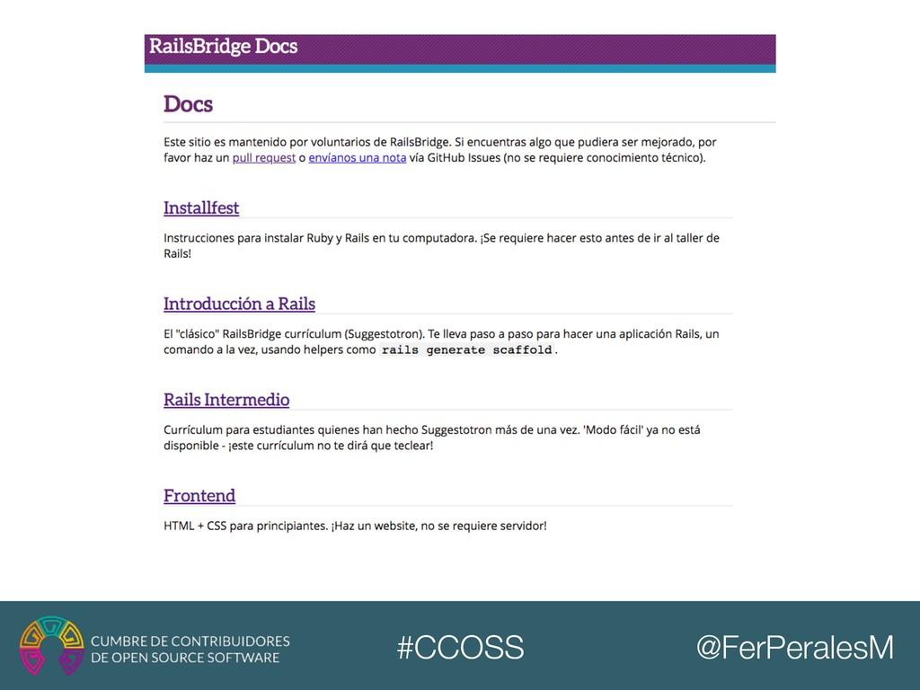 @FerPeralesM #CCOSS
