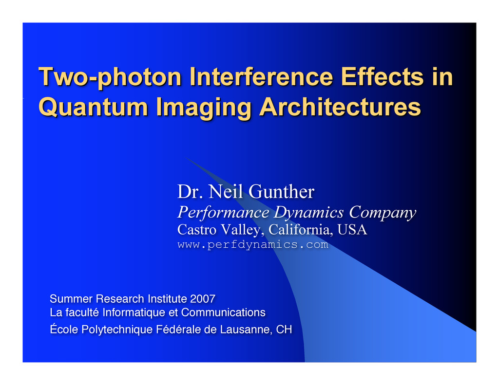 Two-photon Interference Effects in Two-photon I...