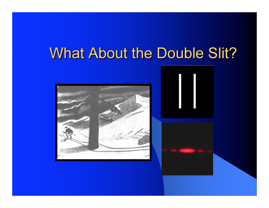 What About the Double Slit? What About the Doub...