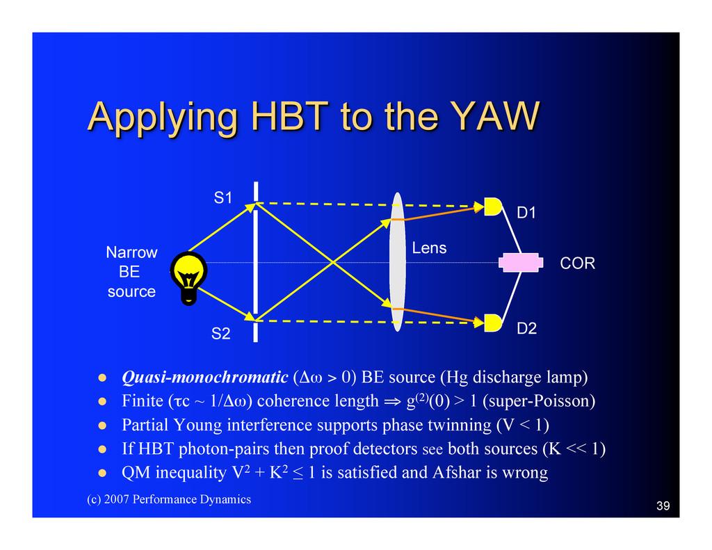 (c) 2007 Performance Dynamics 39 Applying HBT t...