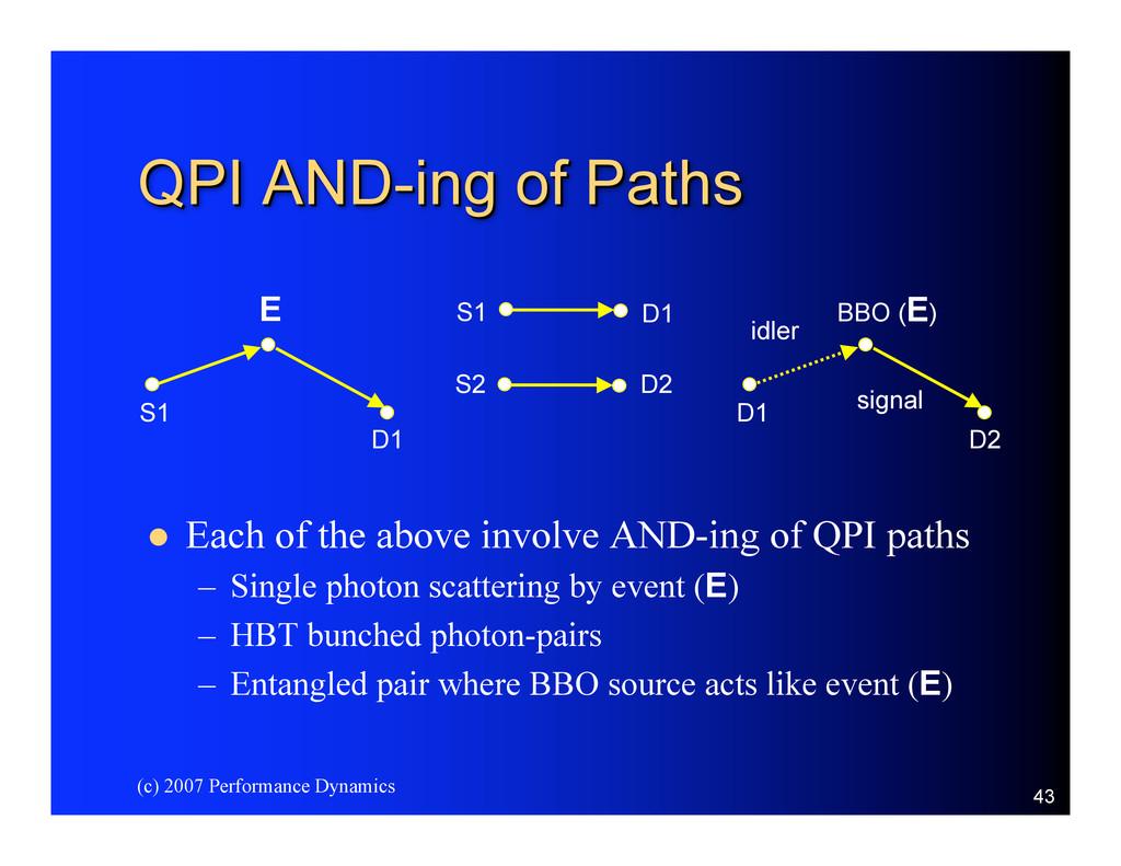 (c) 2007 Performance Dynamics 43 QPI AND- QPI A...