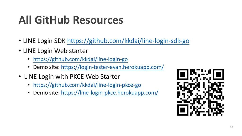 All GitHub Resources • LINE Login SDK https://g...
