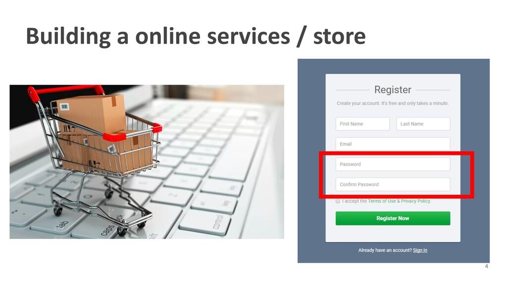 Building a online services / store