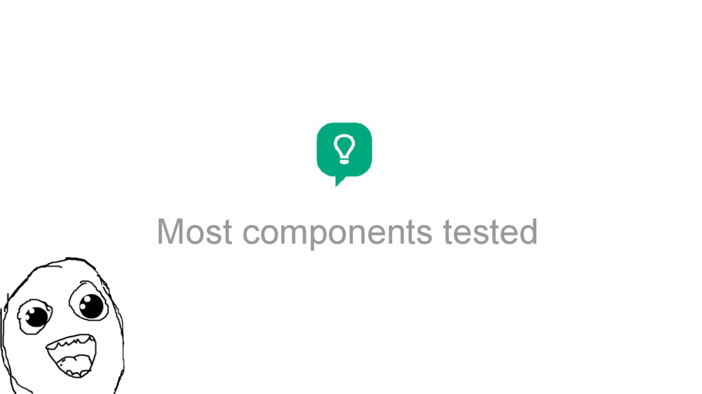 Most components tested