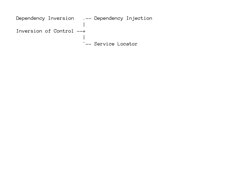 Dependency Inversion .-- Dependency Injection  ...