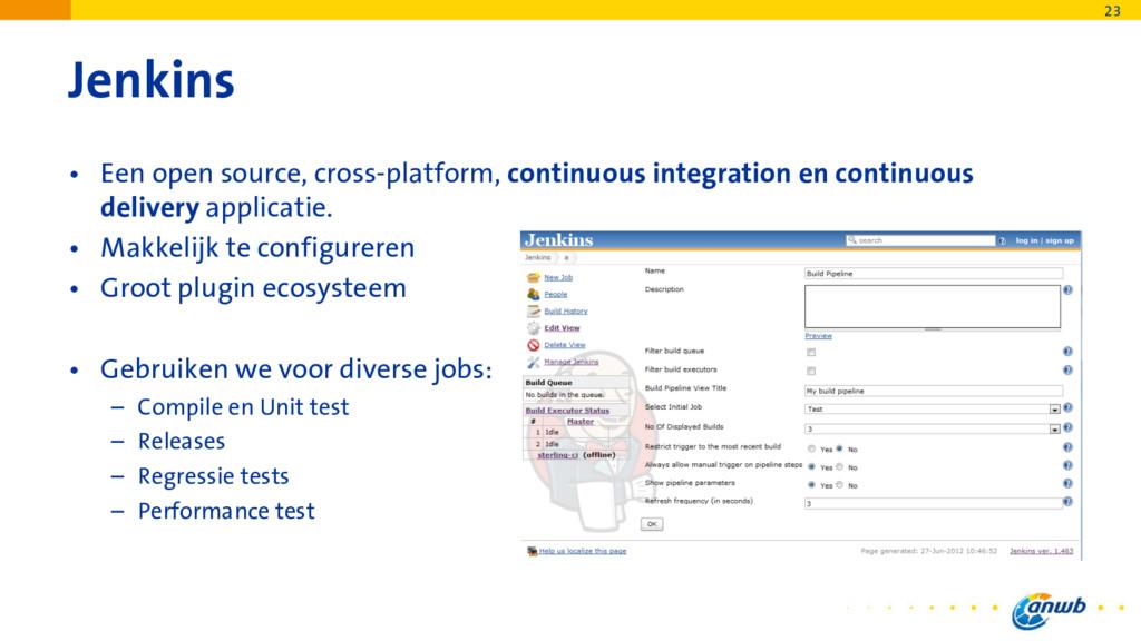Jenkins • Een open source, cross-platform, cont...