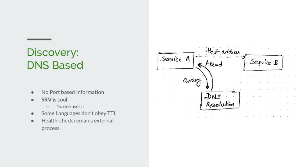 Discovery: DNS Based ● No Port based Informatio...