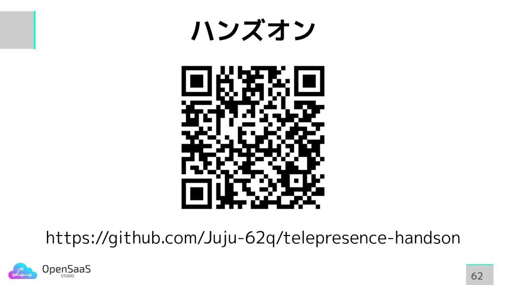 ハンズオン https://github.com/Juju-62q/telepresence-...