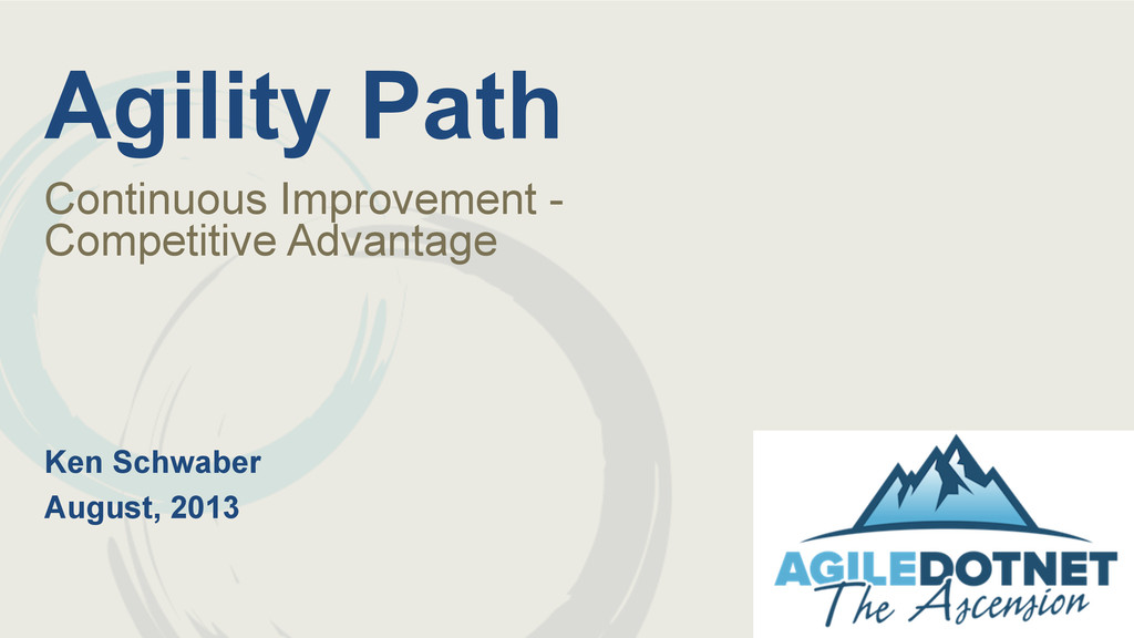 Agility Path Continuous Improvement - Competiti...