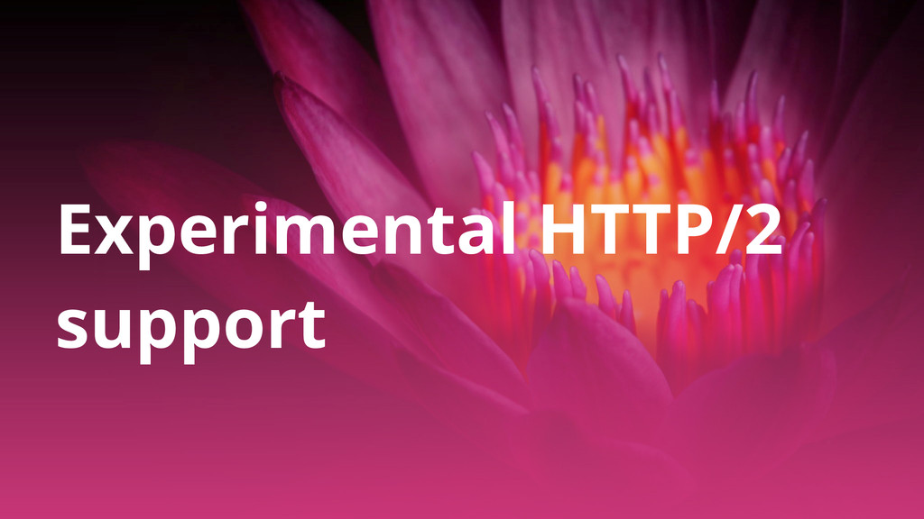 Experimental HTTP/2 support