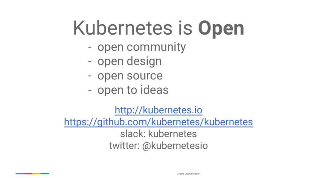 Google Cloud Platform Kubernetes is Open - open...