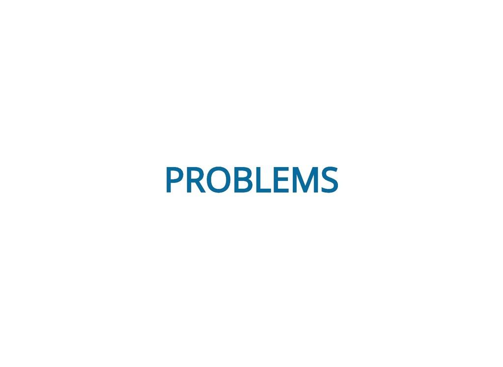 PROBLEMS PROBLEMS