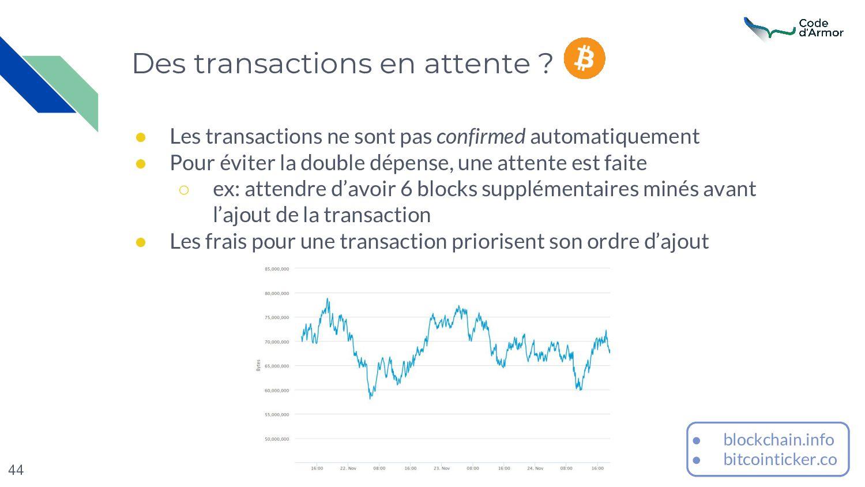 44 Des transactions en attente ? ● Les transact...