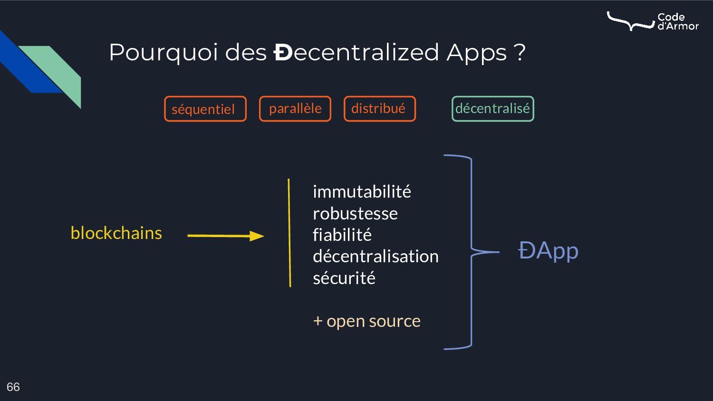 Pourquoi des Ðecentralized Apps ? 66 immutabili...