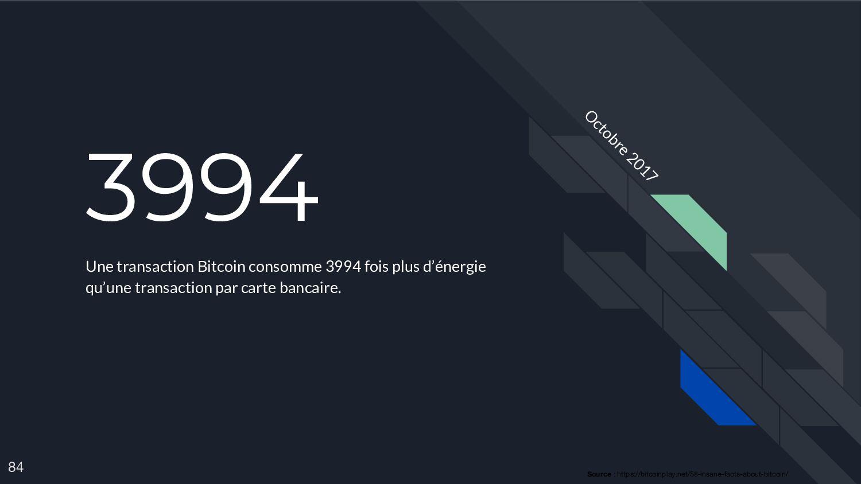 3994 Une transaction Bitcoin consomme 3994 fois...
