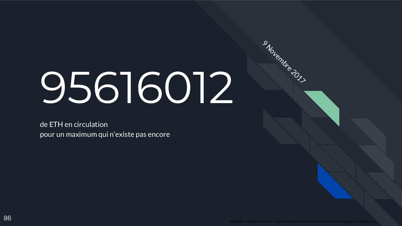 95616012 de ETH en circulation pour un maximum ...