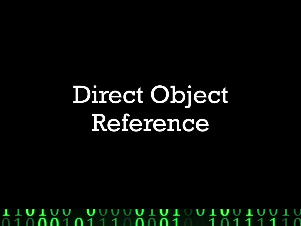 Direct Object Reference