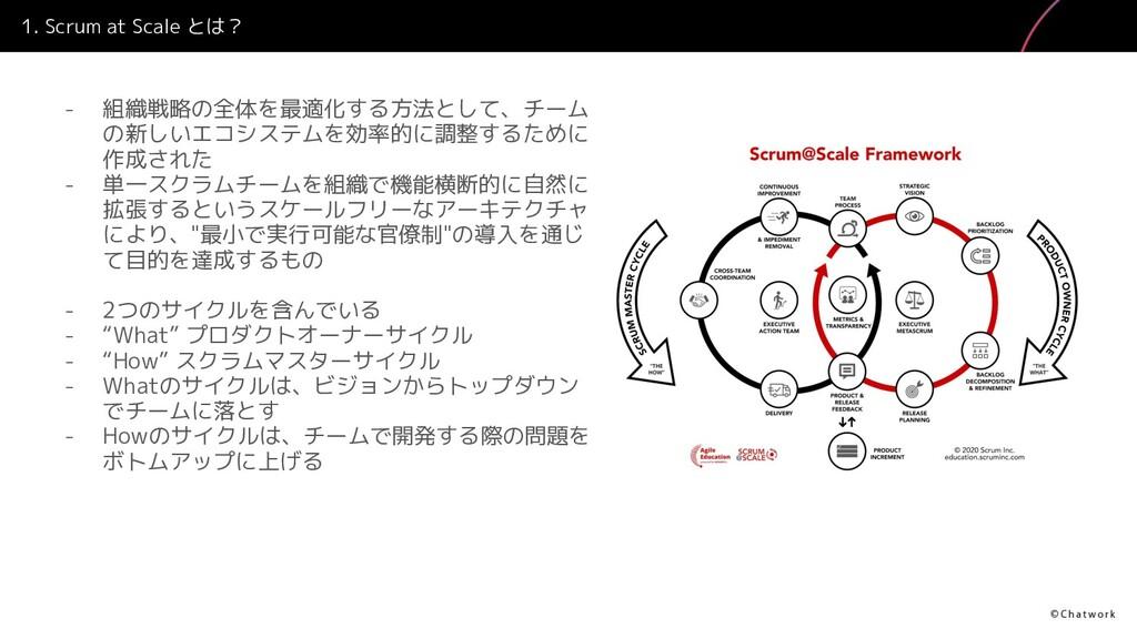 1. Scrum at Scale とは? - 組織戦略の全体を最適化する方法として、チーム ...