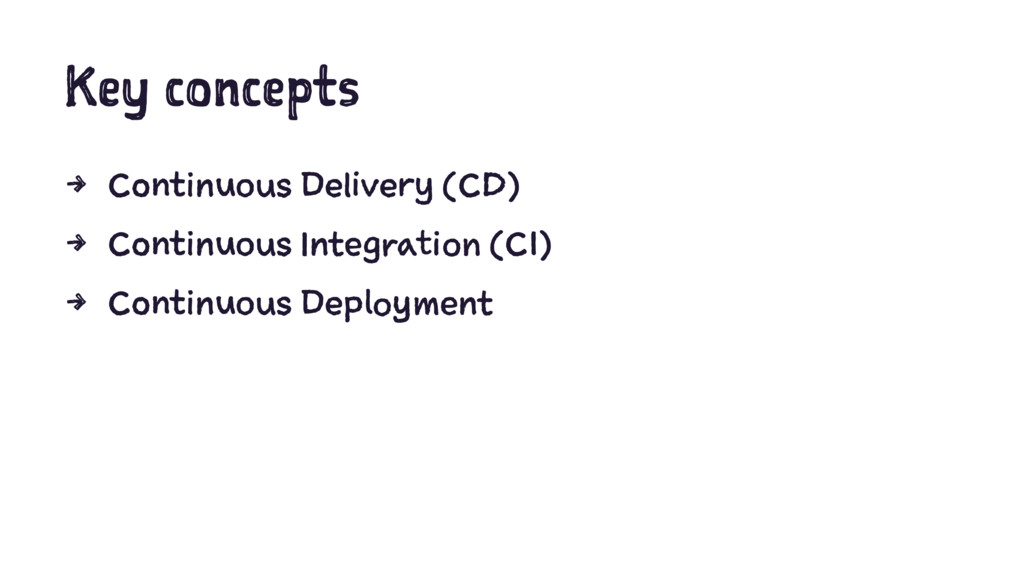 Key concepts 4 Continuous Delivery (CD) 4 Conti...