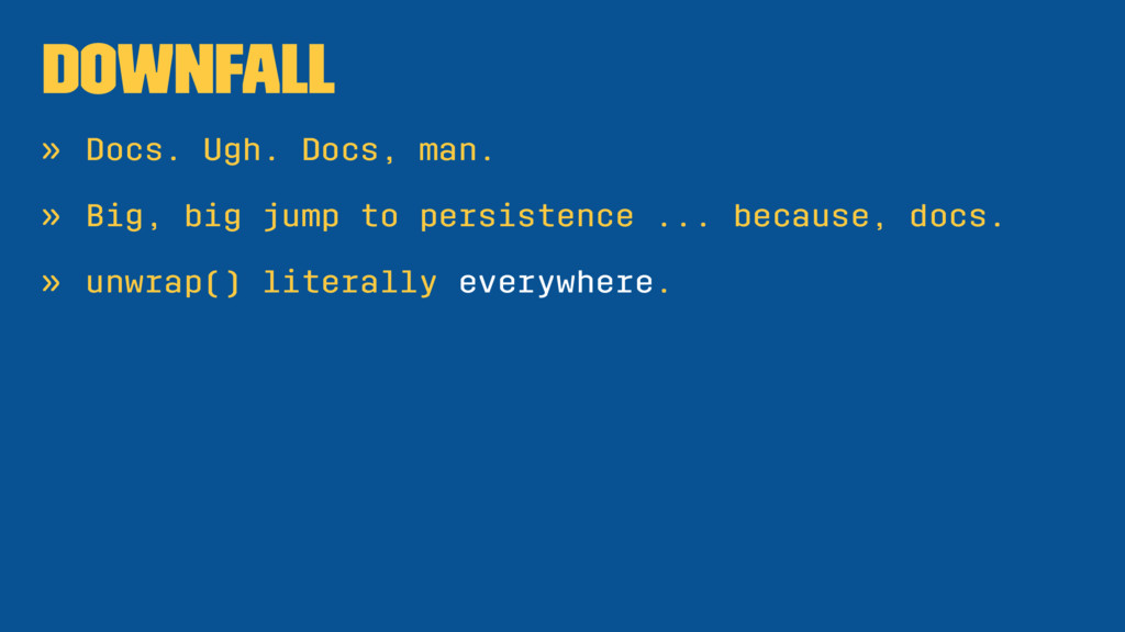 Downfall » Docs. Ugh. Docs, man. » Big, big jum...