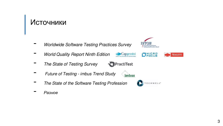 Источники - Worldwide Software Testing Practice...