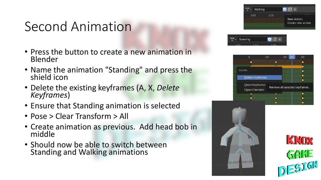 Second Animation • Press the button to create a...