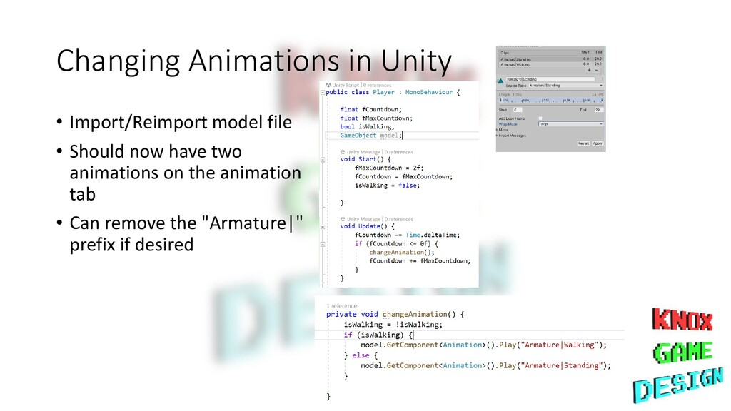 Changing Animations in Unity • Import/Reimport ...
