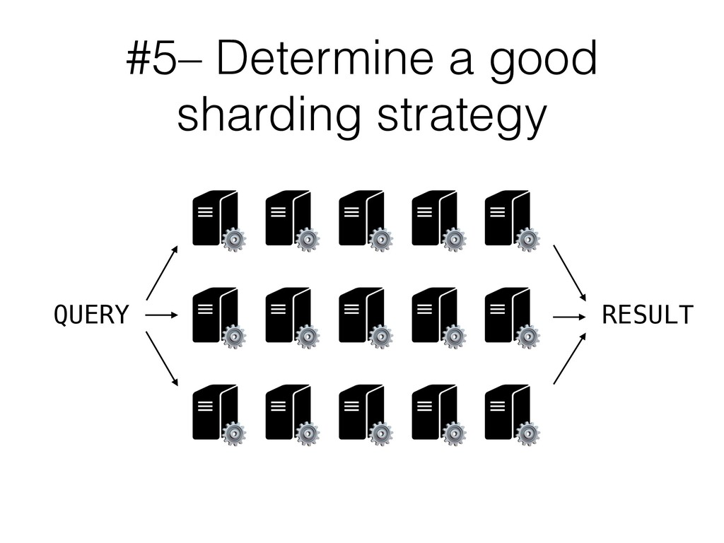 #5– Determine a good sharding strategy QUERY ⚙ ...