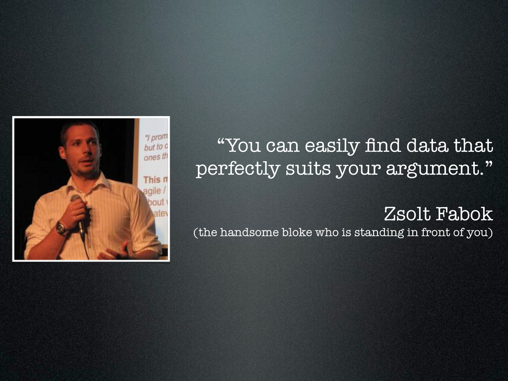 """""""You can easily find data that perfectly suits y..."""
