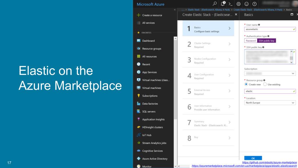 17 Elastic on the Azure Marketplace https://git...