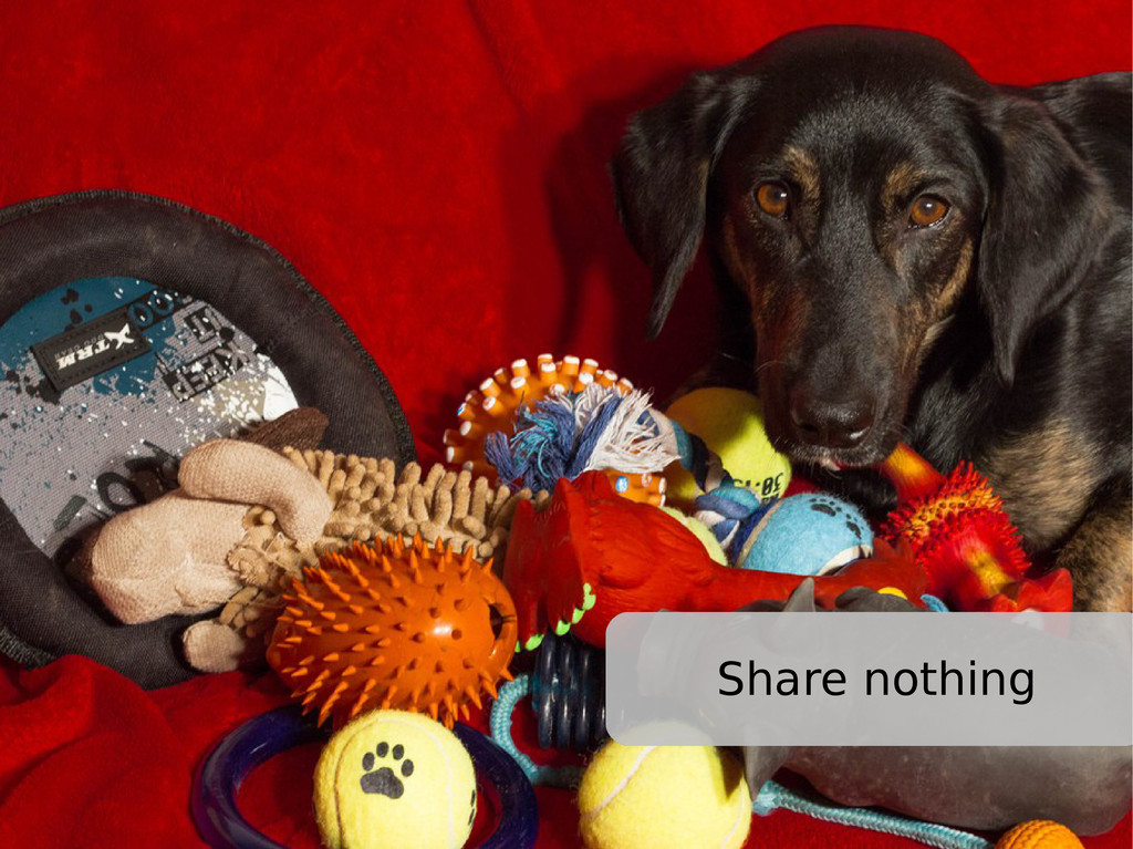 Share nothing
