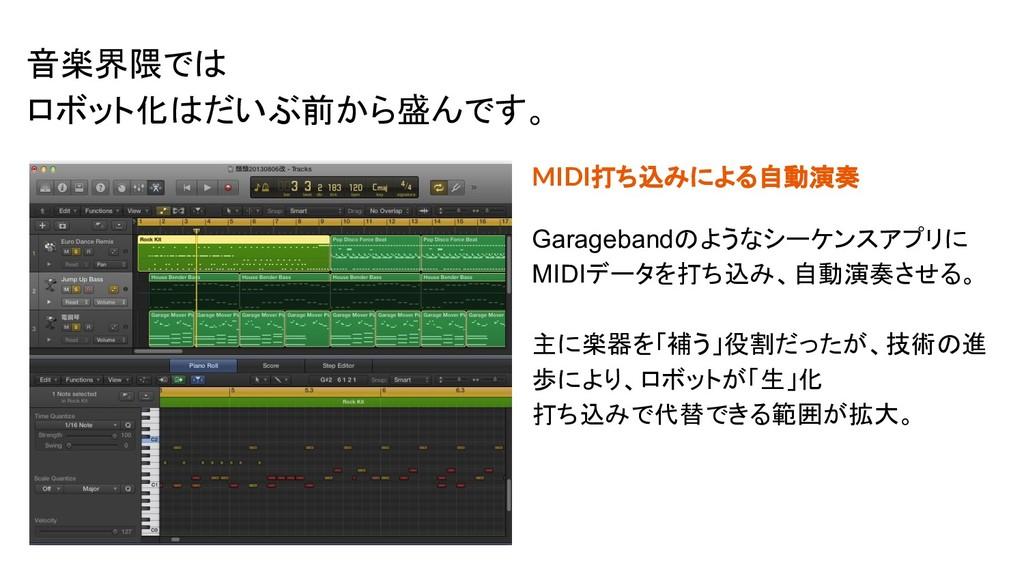 MIDI打ち込みによる自動演奏 Garagebandのようなシーケンスアプリに MIDIデータ...