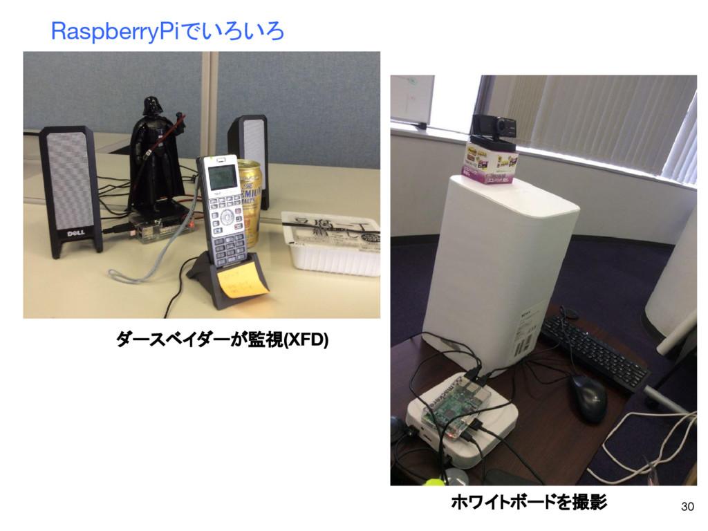 30 RaspberryPiでいろいろ ホワイトボードを撮影 ダースベイダーが監視(XFD)