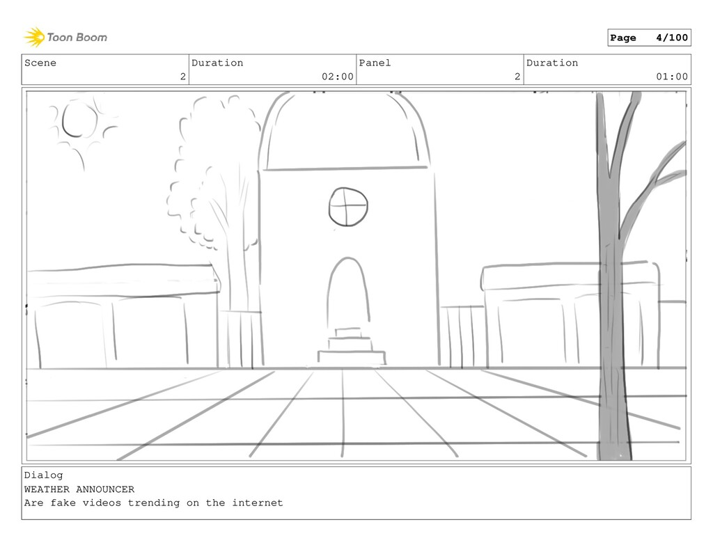 Scene 2 Duration 02:00 Panel 2 Duration 01:00 D...