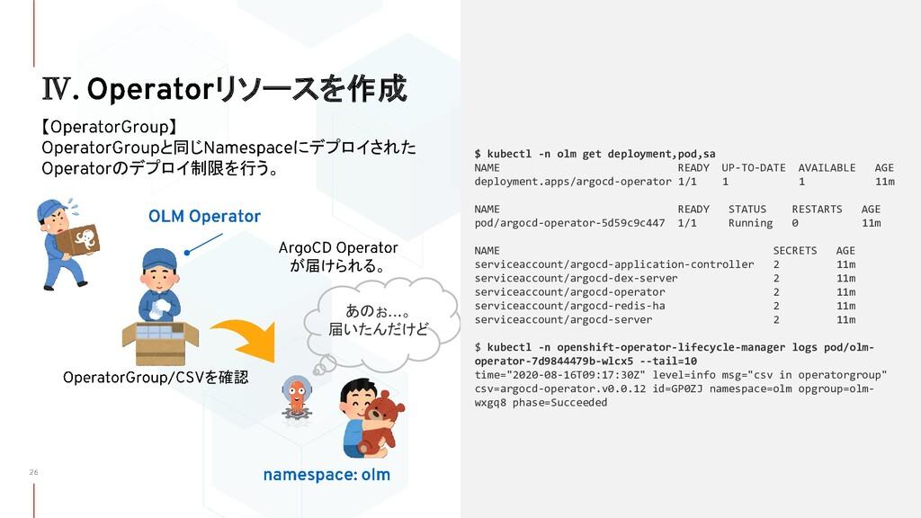 Ⅳ リソースを作成 【 】 と同じ にデプロイされた のデプロイ制限を行う。 が届けられる。 ...